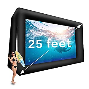 25ft/33ft Giant Inflatable Movie Screen Outdoor – Front and Rear Projection – Portable Blow Up Projector Screen for…