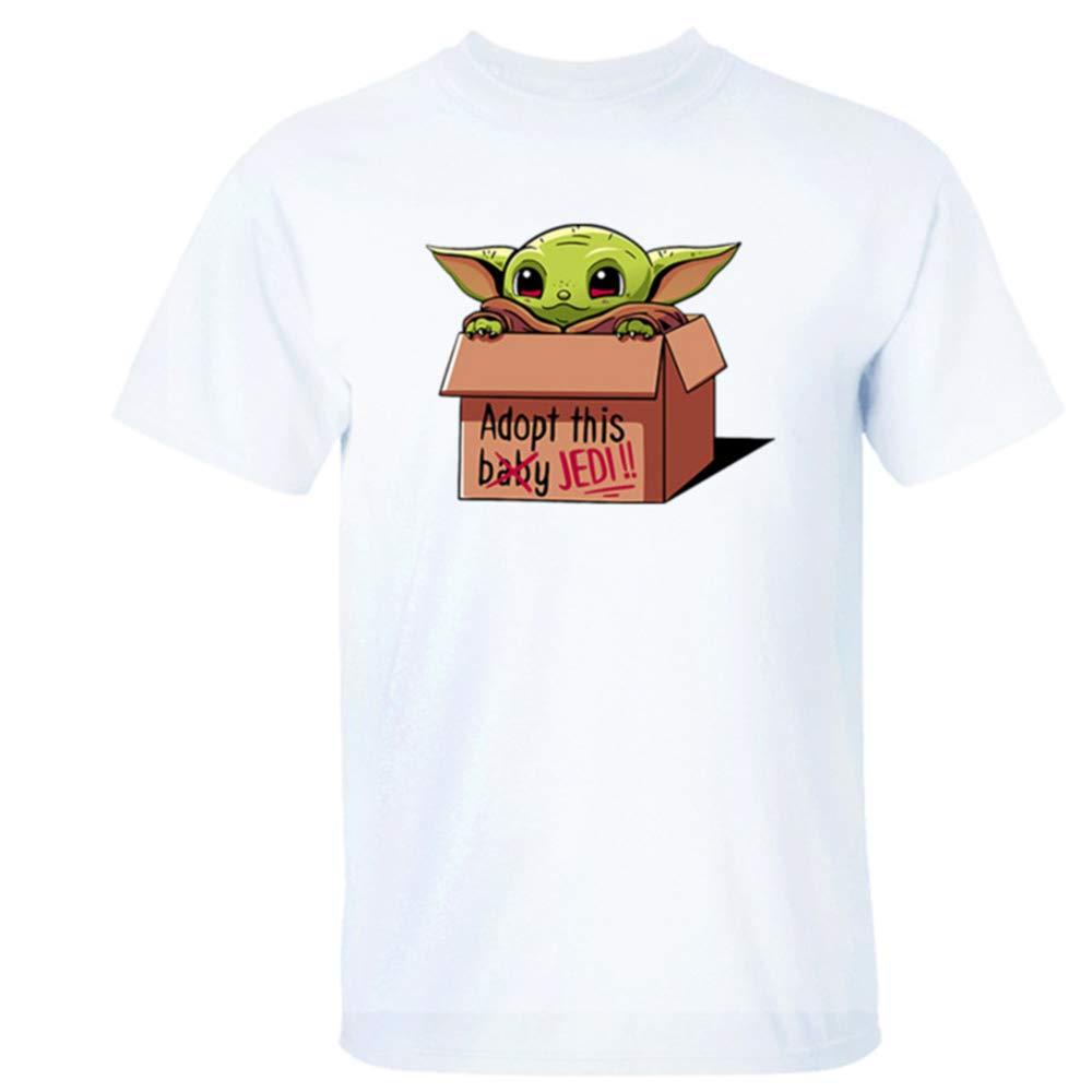 Jedi Master T-Shirt Top de Manga Corta Alrededor de TV Series Q Edition Cute Camiseta de Manga Corta para Hombre
