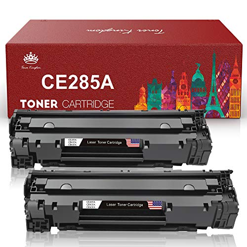 Toner Kingdom Compatible Toner Cartridges Replacement for HP CE285A 85A for Canon 125 and HP Laserjet Pro M1132 M1210 M1212NF M1217NFW P1102 P1102W Printer (Black,2-Pack)
