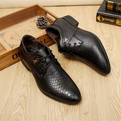 Chaussures de Ville Pour Hommes Neuves Cuir PU à Lacets Bout D'Affaires Oxfords Chaussures Noir YR4I5yYO