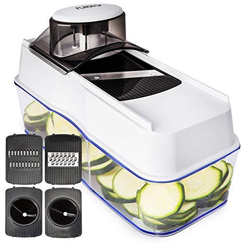 Mandoline Slicer Spiralizer Vegetable Slicer - Veggie Slicer Mandoline Food Slicer with Julienne Grater - V Slicer Mandoline Cutter - Vegetable Cutter Zoodle Maker - Vegetable Spiralizer.