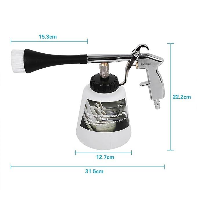 Pistola Pulverizadora de Lavado- Pistola de Limpieza para Interior de Coche Equipo de Pulso de Aire Alta Presión con Boquilla de Limpieza y Botella de ...