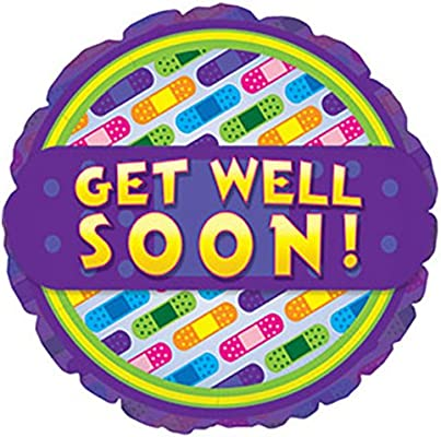 CTI Balloons Foil Balloon 115031 Get Well Bandages 17 Multicolor