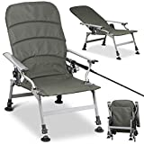 go2buy Fishing Chair Ultimate Outdoor Adjustable Recliner Lounge Chair,Army Green