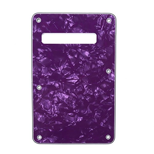 at Back Plate Tremolo Cavity Cover Backplate for Fender USA/Mexican Made Standard Stratocaster Modern Style Electric Guitar, 4ply Purple Pearl ()