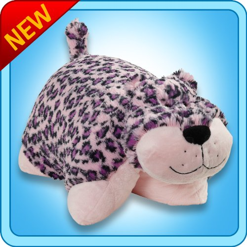 Discover Bargain Original Pink Leopard Pillow Pet - 18 Stuffed Animal Plush Toy.