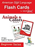 ASL Flash Cards - Learn Signs for Animals & Colors - English, Spanish and American Sign Language (American Sign Language Flash Cards, Beginner) (English and Spanish Edition)