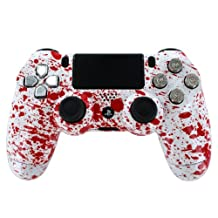"""Red Splatter""PS4 Custom Modded Controller Exclusive Design w/Chrome Dpad & R..."
