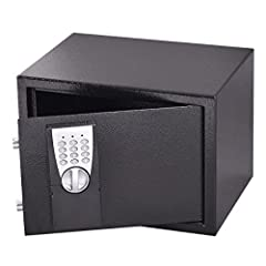 Product Description: The safe has light notification of passcode success and power level. The safe also features a clapboard in the middle of inside to help you organize different items. The compact unit is perfect for any office or home to s...