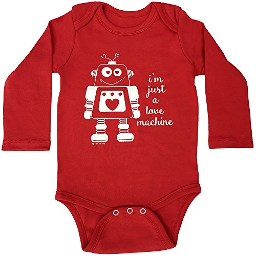 Red Infant Onesie - Valentines Day Bodysuit by Fayfaire Boutique | Adorable I'm Just a Love Machine 6-12M
