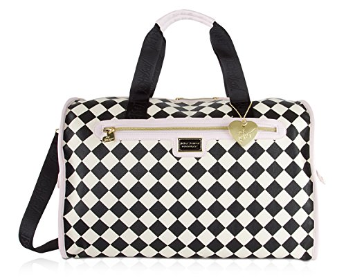 Betsey Johnson Weekender Bag, Blush Multi Overnighter Bag Handbags