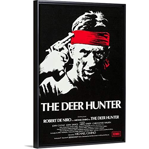 The Deer Hunter - Movie Poster Black Floating Frame Canvas Art, 26