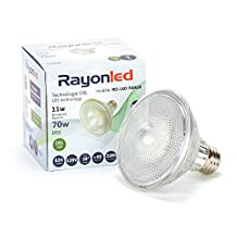 PAR 30 11W LED Bulb 70W Equivalent Dimmable 3000K Warm White 875lm Indoor/Outdoor 40°-45° Flood