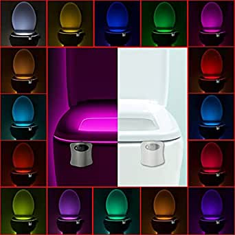 Licwshi Motion Activated Toilet Night Light 16 Color
