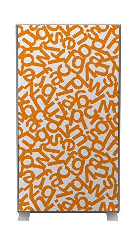 Paperflow EasyScreen Customized Screen Panel, Alphabet, 70-6/7 x 38-4/7 x 1-7/9 Inches, Orange/White - Letter Paperflow