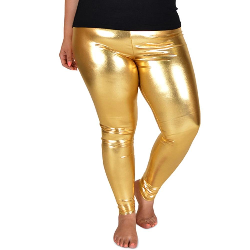 5ab5293c4b3 Top7  Stretch is Comfort Women s Plus Size Shiny Metallic Leggings.  Wholesale Price 22.97 95% Polyester   5% Spandex