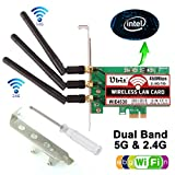 Ubit 450Mbps Wireless PCI-E Express Card WiFi Network Adapter Card Support Dual Band