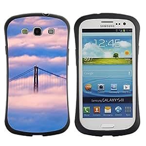 Paccase / Suave TPU GEL Caso Carcasa de Protección Funda para - Nature San Francisco Cloud Bridge - Samsung Galaxy S3 I9300