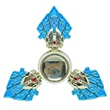 DMaos, LOL Legends Fidget Spinner Tri Spin Finger Games Hand Toy Smooth Metal Aluminum Stainless Steel Light Weight Bearing Crusader Ultra Durable EDC High Speed - Blue Anivia