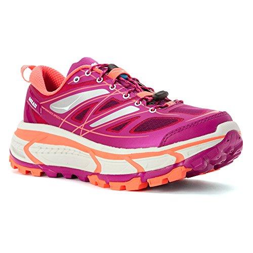 Hoka Mafate Hastighet Womens Trail Joggesko - Ss16 Vill Aster / Neon Korall