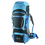 Mountaintop 65L+10L Internal Frame Hiking Backpack for Outdoor Hiking Travel Climbing Camping Mountaineering with Rain Cover-5821(65L+10LSky blue1)