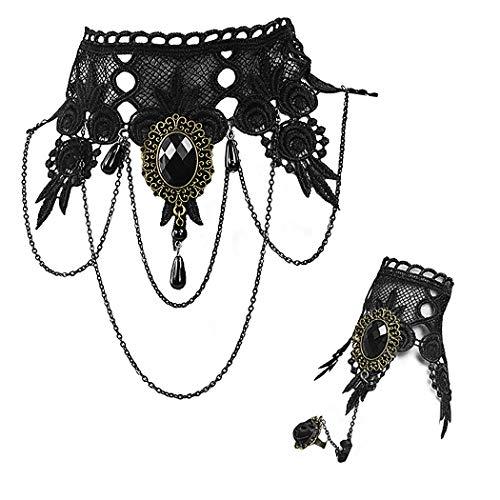 Gothic Lace Vampire Costume - 7