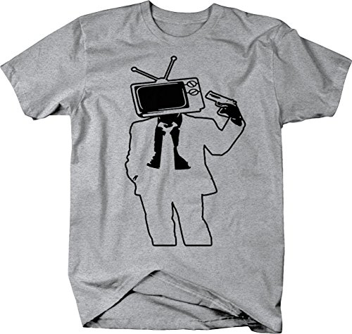 Kill Your Television Talking Head System Tshirt - Large Heather Grey ()