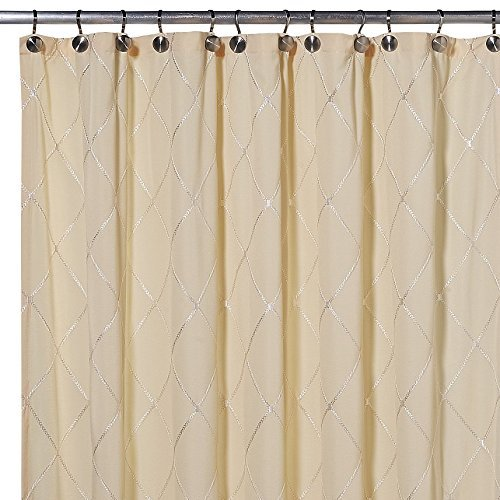 SAM HEDAYA Wellington Shower Curtain, Yellow