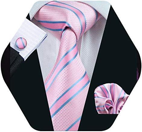 Barry.Pañuelo de bolsillo de corbata de seda rosa para hombre ...
