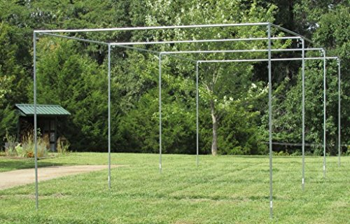 Batting Cage Frame Kit 10' x 12' x 30' EZ UP & Down Baseball Softball Frame Kit (Cage Frame Batting Outdoor)
