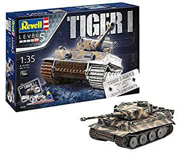 Revell- I Maqueta Set de Regalo 75 años Tiger Tanque, Kit Modello, Escala 1:35 (5790) (05790), 24,10 cm de Largo (