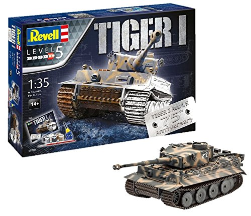Revell-75 Years Tiger I Maqueta Tanque de Guerra, 14+ Años, Multicolor, 24,10 cm de Largo (05790) product image