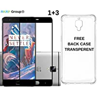 RKRP Group 2.5D Tempered Glass and Free Premium Transparent Back Cover TPU for OnePlus 3T / OnePlus 3