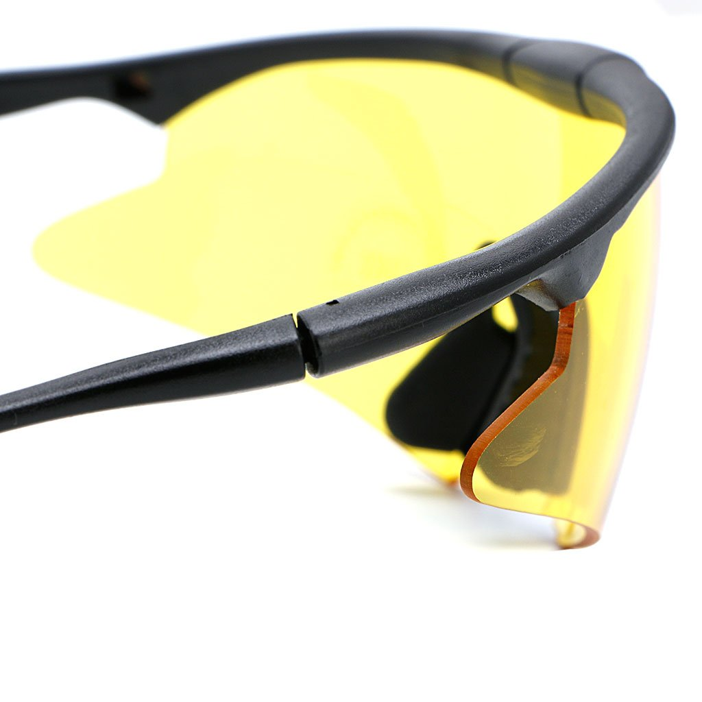 72545bb9c58c Amazon.com  Hukai Tactical Military Outdoor UV400 Safety Shooting Glasses  Sport Sunglasses Goggles (Yellow)  Home   Kitchen