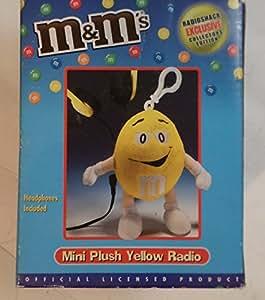 M&M's Mini Plush Yellow Radio