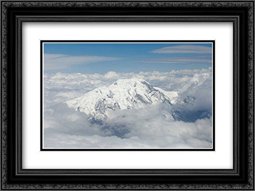 Cotopaxi Volcano, Cotopaxi National Park, Andes Mountains, Ecuador 2X Matted 24x18 Black Ornate Framed Art Print by Oxford, Pete (Oxford Volcano)