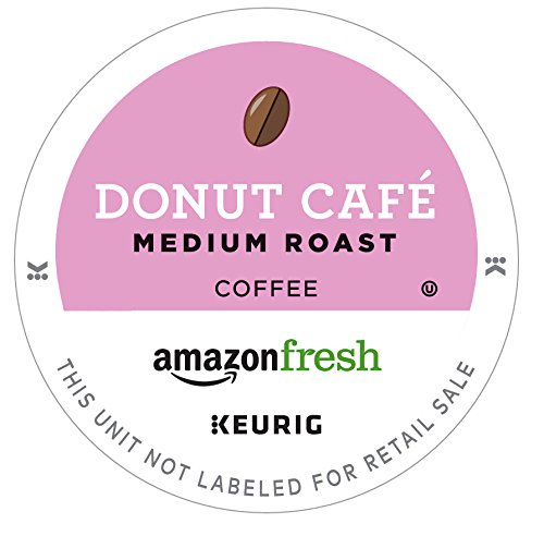AmazonFresh 80 Ct. Coffee K-Cups, Donut Cafe Medium Roast, Keurig Brewer Compatible