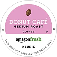 AmazonFresh 80 Ct. Coffee K-Cups, Donut Café Medium Roast, Keurig Brewer Compatible