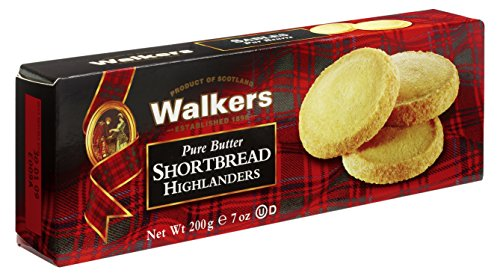 Walkers Shortbread Highlanders, Traditional Pure Butter Shortbread Cookies, 7 Ounce Box