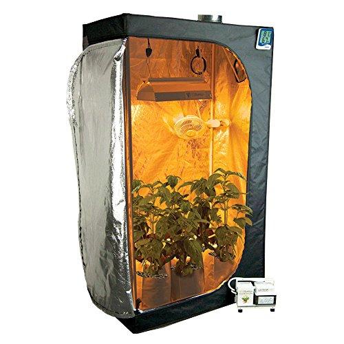 "51xRPEO9DtL - Complete 2 x 3 (36""x22""x63"") Grow Tent Package With 250-Watt HPS Grow Light + Organic Soil & Nutrients"