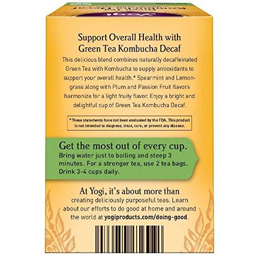 Yogi Teas Tea Grn & Kombch Dcf Org