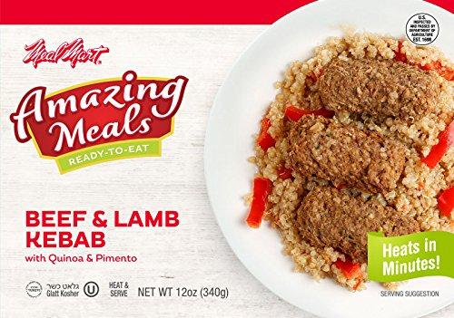 Meal Mart Amazing Meals Kosher BEEF & LAMB KABOB with Quinoa & Pimento