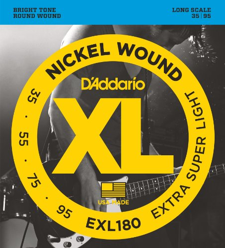 D'Addario EXL180 Nickel Wound Bass Guitar Strings, Extra Sup