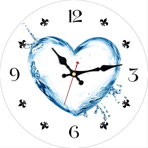 Wooden French Style Wall Clock,6 Inch Small Heart Shape Wall Clocks,Decorative Wall Clock