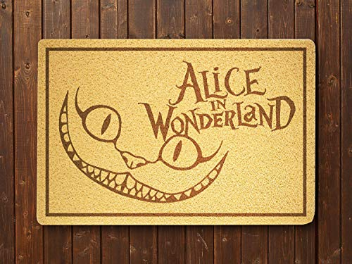 NESTstudio Alice in Wonderland Cat Doormat Sweet Home Supplies Décor Accessories Unique Gift Handmade Present Idea Original Design Commercial Outside Inside Personalized Quotes Exterior]()