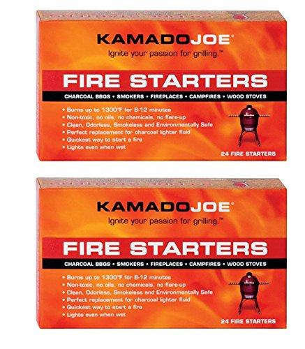 Kamado Joe KJFS Fire Starters - 24 Count - 2 Pack by KamadoJoe