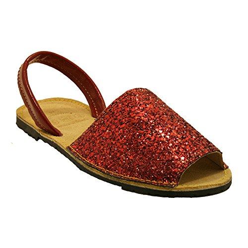 15090G ibicenca Sandalia 15090G glitter rojo Sandalia wpaWq5O
