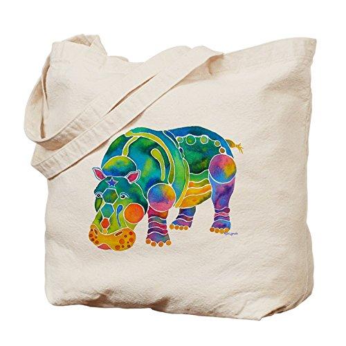 Cafepress �?Best HIPPO in molti colori �?Borsa di tela naturale, tessuto in iuta