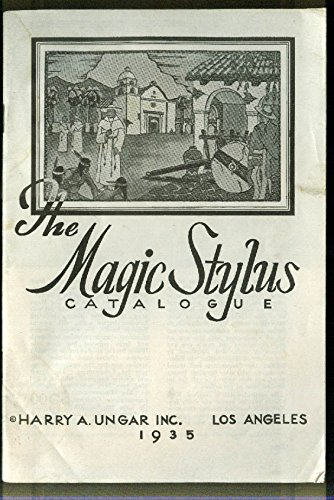 The Magic Stylus Wood Burning Catalog Harry A Ungar 1935