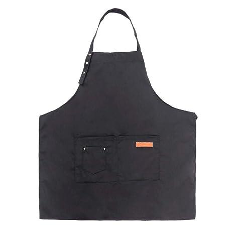 Everpert Delantal Ajustable Hosteleria, Cintura Larga con Bolsillo, Color Puro Delantales, Cocinero la